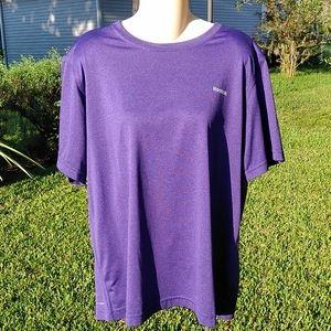 Reebok's Play Dry Purple Polyester Medium